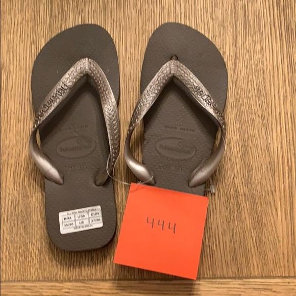 Havaianas Shoes - Havaianas, 35-36, dark brown, wide strap, new